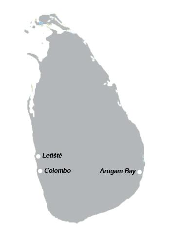 poloha Arugam Bay